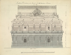 Elevation of the Kolaramma Temple, Kolar (KA).'Southern Elevation of the Temple of Coll Amma at Colar